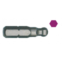 """INSERTO 1/4"""" ESAGONALE 2 mm L.25mm T/SFERICA"""