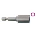 """CHIAVE BUSSOLA 1/4"""" ESAGONALE 8 mm L.50mm MAGNETICA"""
